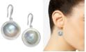 Macy's Cultured Blister Pearl (18mm) Drop Earrings in Sterling Silver