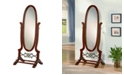 Coaster Home Furnishings Cairo Oval Cheval Mirror Brown