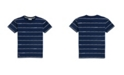 Lacoste Toddler, Little and Big Boys Crew Neck Printed Stripe Cotton T-Shirt