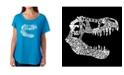 LA Pop Art Women's Dolman Cut Word Art Shirt - Trex