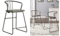 iNSPIRE Q Mabel Iron and Grey Finish Counter Height Chair