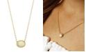 Macy's Opal (3/4 ct. t.w.) Twist Gallery Necklace in 14k Yellow Gold