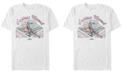 Marvel Men's Captain Marvel Retro Checkered Comic, Short Sleeve T-shirt