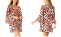 Anne Cole Sunset Floral Flounce V-Neck Tunic Swim Cover-Up