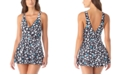 Anne Cole Printed Plunging Swimdress