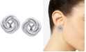 Lauren Ralph Lauren Silver-Tone Knot Clip-On Stud Earrings