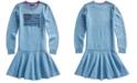 Polo Ralph Lauren Big Girls Intarsia-Flag Cotton Dress