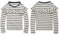 Polo Ralph Lauren Big Girls Striped Ruffled Cotton-Modal Top