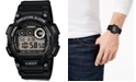 Casio Men's Digital Black Resin Strap Watch 44mm