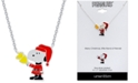 """Peanuts """"Snoopy"""" Santa Station Pendant Necklace in Fine Silver Plated, 16""""+2"""" extender"""