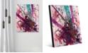 "Creative Gallery Higgs Boson Magenta Abstract 20"" x 24"" Acrylic Wall Art Print"