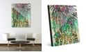 """Creative Gallery Psychedelic Jelly Fish in Green Abstract 20"""" x 24"""" Acrylic Wall Art Print"""