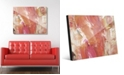 "Creative Gallery Fire Horse in Peach Abstract 20"" x 24"" Acrylic Wall Art Print"