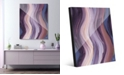 """Creative Gallery Xcitement in Purple Abstract 16"""" x 20"""" Acrylic Wall Art Print"""