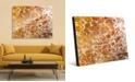 "Creative Gallery Orange Yellow Blotch Spots Abstract 16"" x 20"" Acrylic Wall Art Print"