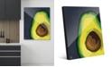 "Creative Gallery Large Sliced Graphic Avocado on Blue 20"" x 24"" Acrylic Wall Art Print"