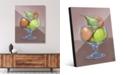"Creative Gallery Fruit Still Life on Brown Illustration 20"" x 24"" Acrylic Wall Art Print"