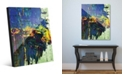 Creative Gallery Roadblocked in Blue Abstract Acrylic Wall Art Print Collection