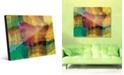 Creative Gallery Quadretto Scozesein Yellow Abstract Acrylic Wall Art Print Collection