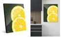 Creative Gallery Large Sliced Graphic Lemon on Green Acrylic Wall Art Print Collection