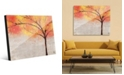 Creative Gallery Sparkle Tree in Orange Yellow Abstract Acrylic Wall Art Print Collection