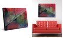 Creative Gallery Sundown Willow Tree on Scarlet Abstract Acrylic Wall Art Print Collection
