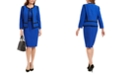 Kasper Jewel Neck Blazer & Sleeveless Sheath Dress