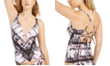 Bar III Ink-Dyed Plunge-Neck Tankini Top, Created for Macy's