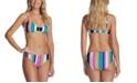 Raisins Juniors' Striped Bikini Top & Bottoms, Created For Macy's