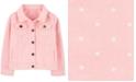 Carter's Big Girls Dot-Print Cotton Twill Denim Jacket