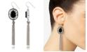 Macy's Marcasitre Faceted Onyx Tassel Wire Earrings in Sterling Silver