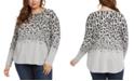 Karen Kane Plus Size Leopard-Print Top
