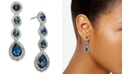 Charter Club Silver-Tone Crystal Linear Drop Earrings, Created for Macy's