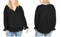 Michael Kors Plus Size Bell-Sleeve Top