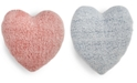 Martha Stewart Collection Sherpa Heart Decorative Pillow, Created For Macy's