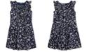 Polo Ralph Lauren Little Girls Floral Cotton Dobby Dress