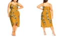 City Chic Trendy Plus Size Golden Vine Faux-Wrap Dress