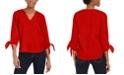 Michael Kors Tie-Sleeve Top, Regular & Petite