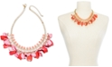 "INC International Concepts INC Gold-Tone Bead & Shaky Petal Statement Necklace, 17"" + 3"" extender, Created For Macy's"