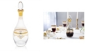 Classic Touch Glass Wine Bottle with Rich Gold-Tone Design