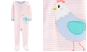 Carter's Baby Girls 1-Pc. Striped Chicken Cotton Footed Pajamas