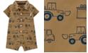Carter's Baby Boys Trucks-Print Poplin Cotton Romper
