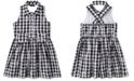 Calvin Klein Toddler Girls Cotton Plaid Heart Dress