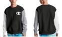 Champion Men's Colorblocked Logo Script Sleeve Sweatshirt