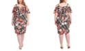 RACHEL Rachel Roy Trendy Plus Size Marcella Floral-Print Cold-Shoulder Dress