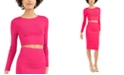 Bar III Bodycon Cropped Crew-Neck Sweater, Created For Macy's