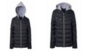 Perry Ellis Big Boys Quilted Jacket with Fleece Hood