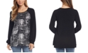 Karen Kane Black Contrast Foil Knit Top