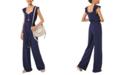 Michael Kors Flounce-Trim Tie-Waist Jumpsuit, Available in Regular and Petites