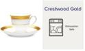 Noritake Crestwood Gold After Dinner Cup  & Saucer